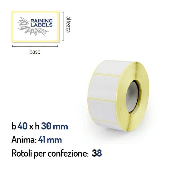 Etichette a trasferimento termico 40x30 mm anima 41 mm