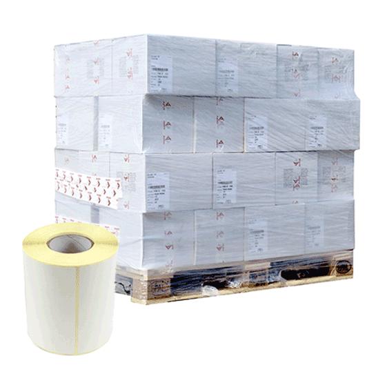 Stock da 1360 rotoli di etichette a trasferimento termico 50x25 mm Ø 41