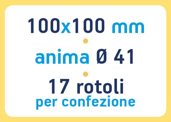etichette adesive neutre pronta consegna - etichette a trasferimento termico 100x100 anima 41