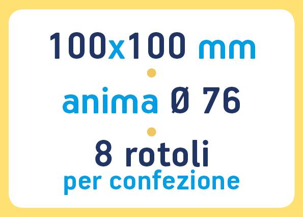 etichette adesive neutre pronta consegna - etichette a trasferimento termico 100x100 anima 76