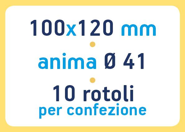 etichette adesive neutre pronta consegna - etichette a trasferimento termico 100x120 anima 41
