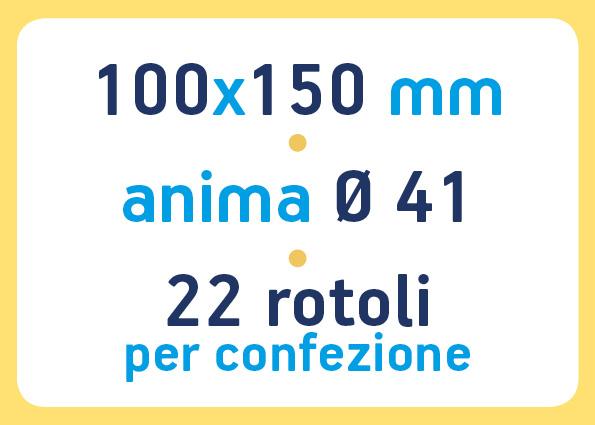 etichette adesive neutre pronta consegna - etichette a trasferimento termico 100x150 anima 41