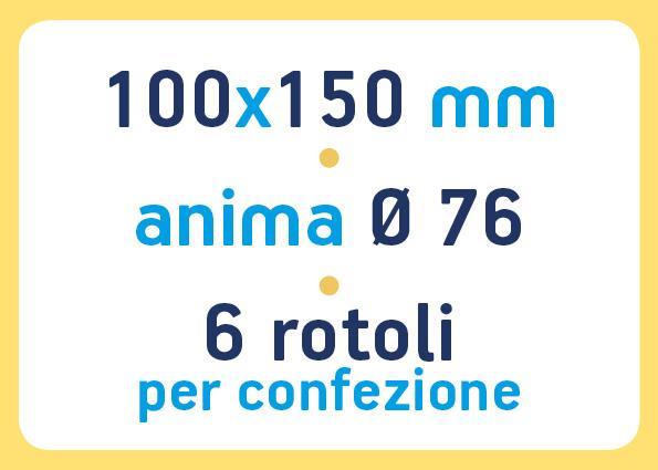 etichette adesive neutre pronta consegna - etichette a trasferimento termico 100x150 anima 76