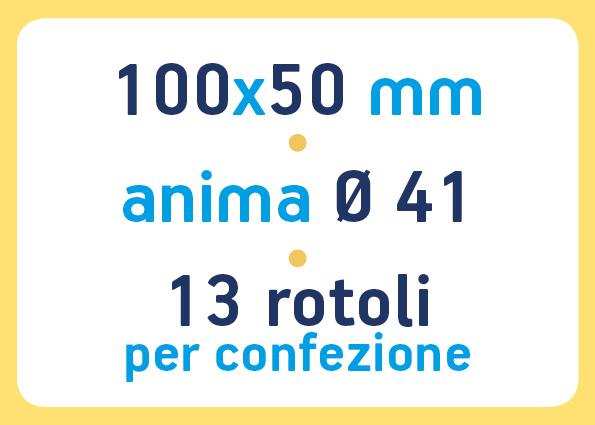 etichette adesive neutre pronta consegna - etichette a trasferimento termico 100x50 anima 41