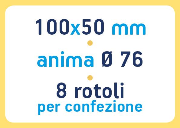 etichette adesive neutre pronta consegna - etichette a trasferimento termico 100x50 anima 76