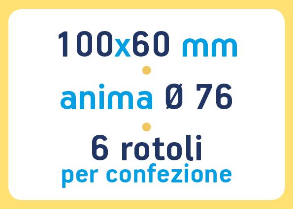 etichette adesive neutre pronta consegna - etichette a trasferimento termico 100x60 anima 76