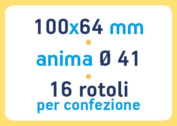etichette adesive neutre pronta consegna - etichette a trasferimento termico 100x64 anima 41