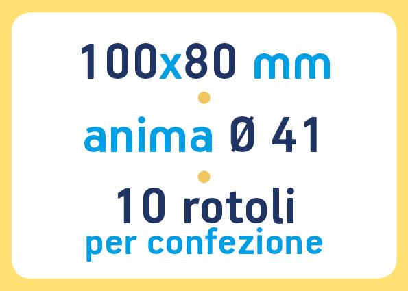 etichette adesive neutre pronta consegna - etichette a trasferimento termico 100x80 anima 41