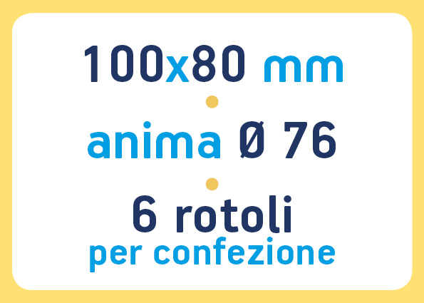 etichette adesive neutre pronta consegna - etichette a trasferimento termico 100x80 anima 76