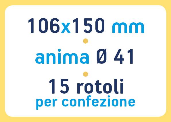 etichette adesive neutre pronta consegna - etichette a trasferimento termico 106x150 anima 41