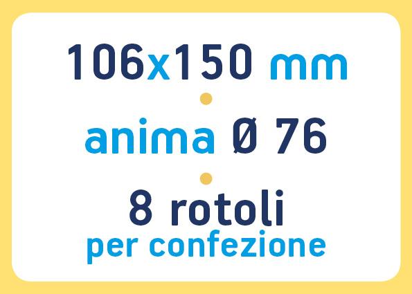 etichette adesive neutre pronta consegna - etichette a trasferimento termico 106x150 anima 76