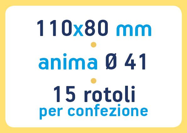 etichette adesive neutre pronta consegna - etichette a trasferimento termico 110x80 anima 41