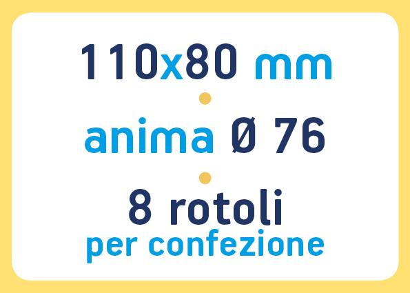 etichette adesive neutre pronta consegna - etichette a trasferimento termico 110x80 anima 76