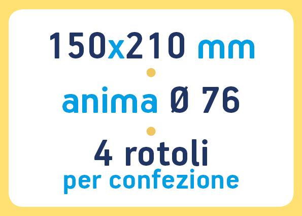 etichette adesive neutre pronta consegna - etichette a trasferimento termico 150x210 anima 76