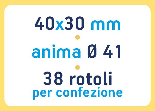 etichette adesive neutre pronta consegna - etichette a trasferimento termico 40x30 anima 41