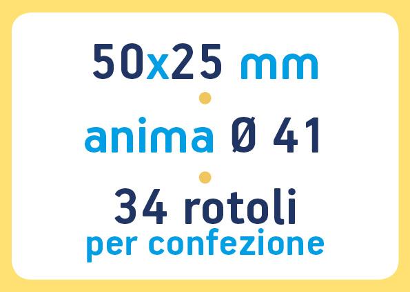etichette adesive neutre pronta consegna - etichette a trasferimento termico 50x25 anima 41