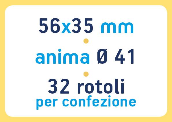 etichette adesive neutre pronta consegna - etichette a trasferimento termico 56x35 anima 41
