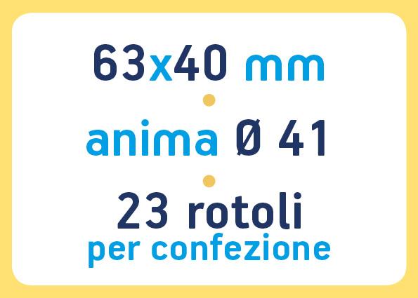 etichette adesive neutre pronta consegna - etichette a trasferimento termico 63x40 anima 41