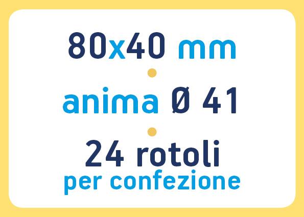 etichette adesive neutre pronta consegna - etichette a trasferimento termico 80x40 anima 41