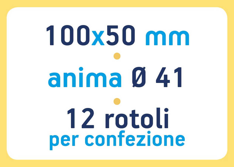 etichette in bobina neutre - etichette termiche dirette 100x50