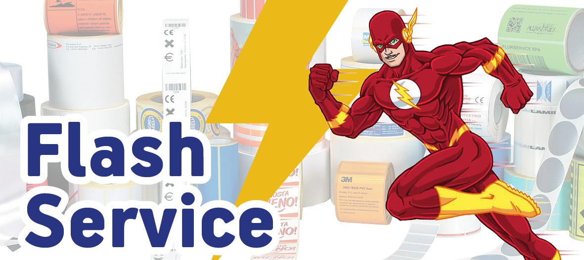 flash service raining labels
