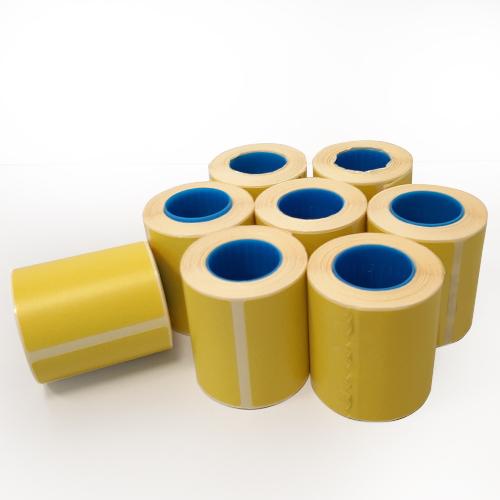 Confezione da 250 rotoli di etichette termiche gialle 50×50 mm anima da 25mm - 2