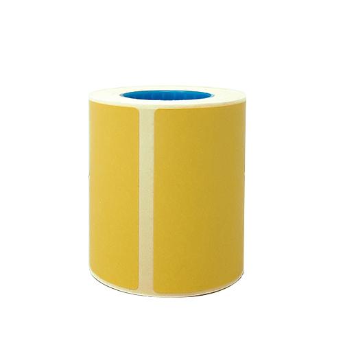 Confezione da 250 rotoli di etichette termiche gialle 50×50 mm anima da 25mm