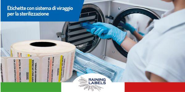 etichette con sistema di viraggio per sterilizzazione