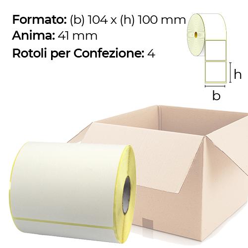 Confezione da 4 Rotoli di etichette a trasferimento termico 104x100 mm anima 41