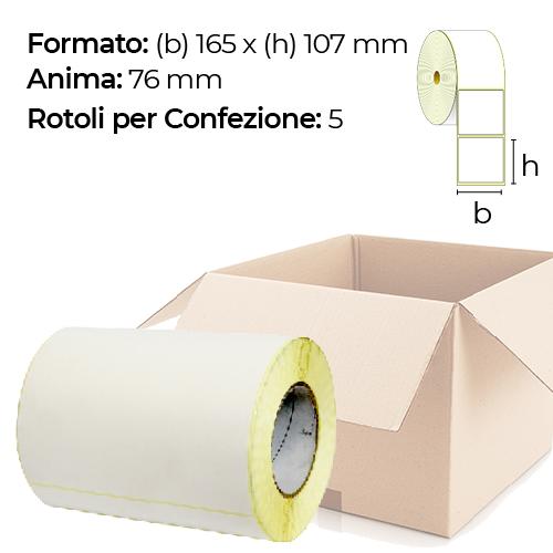 Confezione da 5 Rotoli da 165 x 107 mm anima 76